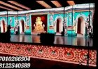 LED Screen Video Wall Wedding Marriage Reception Event Stage Decoration India +91 81225 40589 (WA)