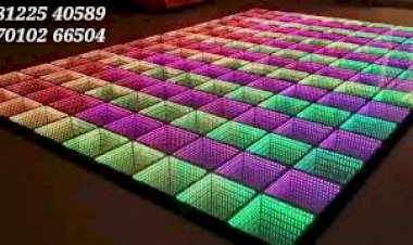 LED Floor Digital Wedding Marriage Reception Event Stage Platform Design Decoration Chennai, Bangalore, India 91 81225 40589 (WA)