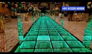 Interactive LED Floor | Wedding or Corporate Event Entry Design Decoration India +91 8122 540589(WA)