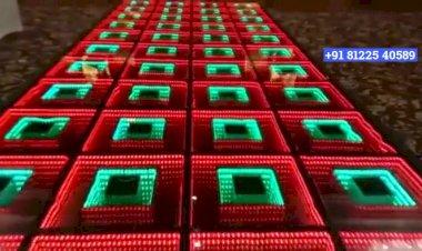 3D Illusion LED Glass Floor New Concept +91 81225 40589 Chennai | Andhra | Goa | Bangalore | Event
