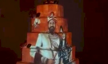 #Cake Mapping Projection Wedding +91 81225 40589